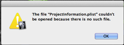 Logic Error projectinformation.plist